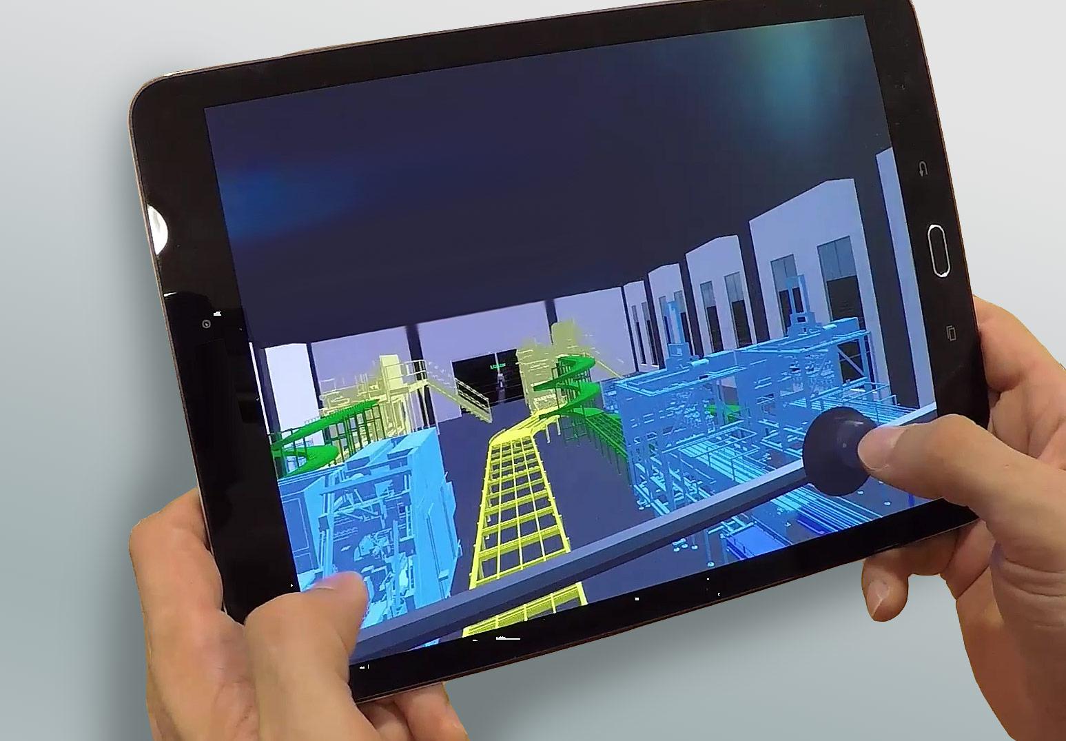 Virtuelle Realitaet (VR) auf einem Tablet